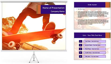 Skateboarding PowerPoint Template