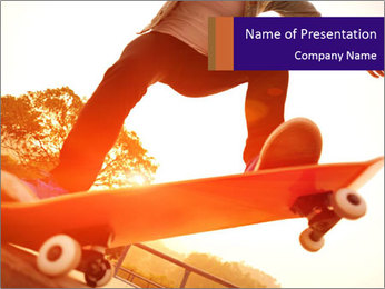 Skateboarding PowerPoint Template - Slide 1