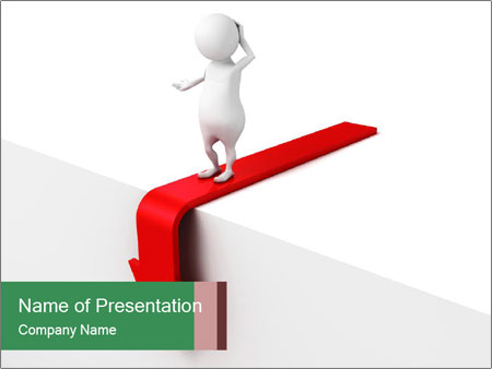 3d confused business man PowerPoint Templates