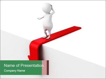 3d confused business man PowerPoint Template