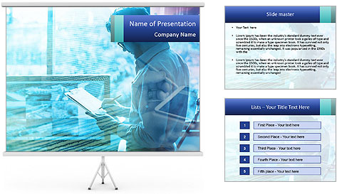 Blue science PowerPoint Template