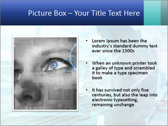 Blue science PowerPoint Template - Slide 13