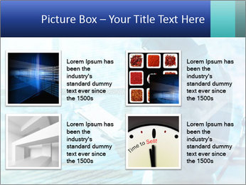 Blue science PowerPoint Template - Slide 14