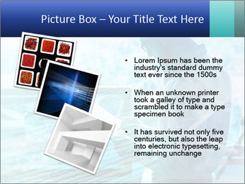 Blue science PowerPoint Template - Slide 17