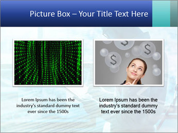 Blue science PowerPoint Template - Slide 18