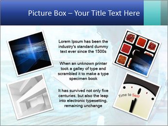 Blue science PowerPoint Template - Slide 24