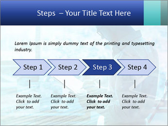 Blue science PowerPoint Template - Slide 4
