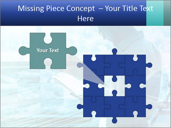 Blue science PowerPoint Template - Slide 45