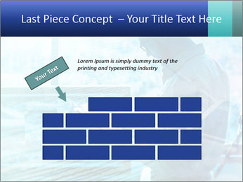 Blue science PowerPoint Template - Slide 46