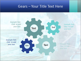 Blue science PowerPoint Template - Slide 47