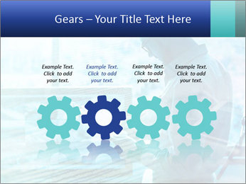 Blue science PowerPoint Template - Slide 48
