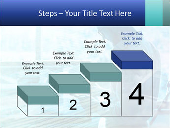 Blue science PowerPoint Template - Slide 64
