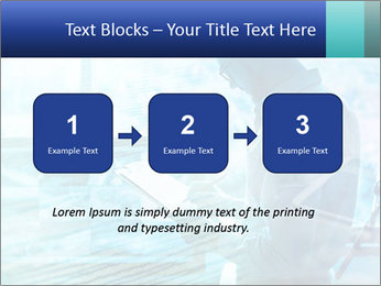 Blue science PowerPoint Template - Slide 71