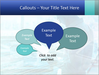 Blue science PowerPoint Template - Slide 73
