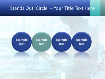 Blue science PowerPoint Template - Slide 76