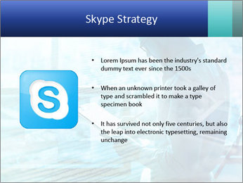 Blue science PowerPoint Template - Slide 8