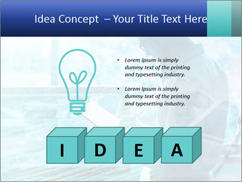 Blue science PowerPoint Template - Slide 80