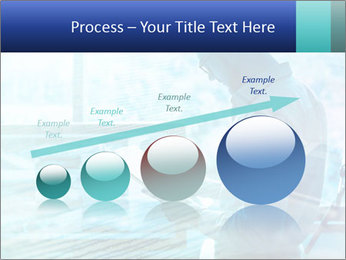 Blue science PowerPoint Template - Slide 87