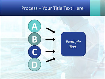 Blue science PowerPoint Template - Slide 94