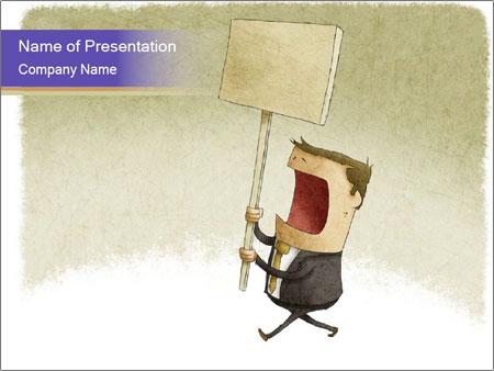 Businessman demonstration PowerPoint Templates