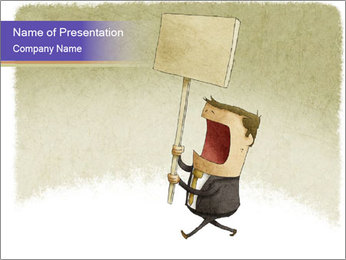 Businessman demonstration PowerPoint Template
