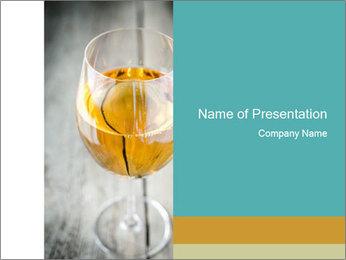 White wine PowerPoint Template - Slide 1