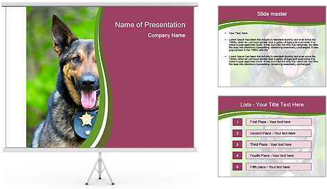 Police dog PowerPoint Template