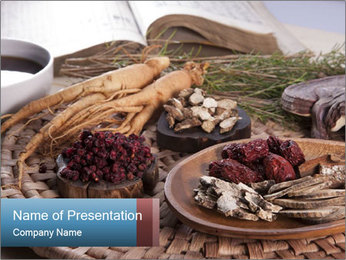 Korean medicine PowerPoint Template - Slide 1