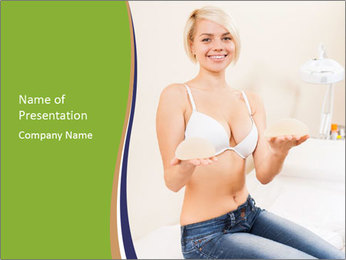 Beautiful smile woman PowerPoint Template - Slide 1