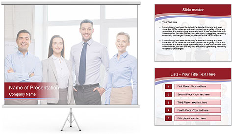 Office concept PowerPoint Template