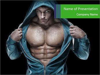 Fitness Model PowerPoint Template - Slide 1