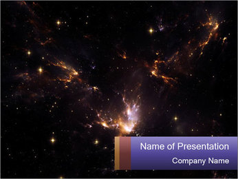 Universe PowerPoint Template - Slide 1