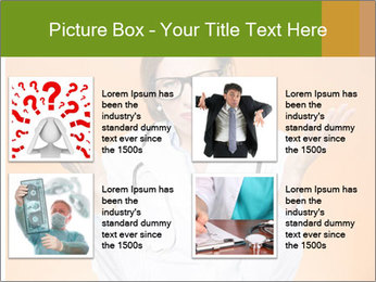 The doctor on an orange background PowerPoint Template - Slide 14