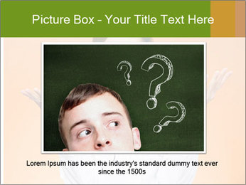 The doctor on an orange background PowerPoint Template - Slide 15