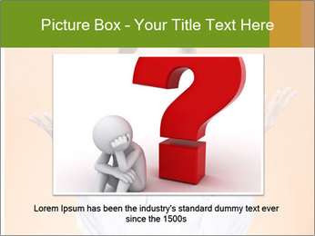 The doctor on an orange background PowerPoint Template - Slide 16