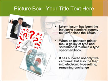 The doctor on an orange background PowerPoint Template - Slide 17