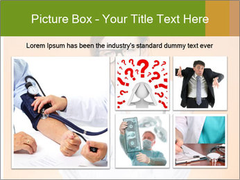 The doctor on an orange background PowerPoint Template - Slide 19