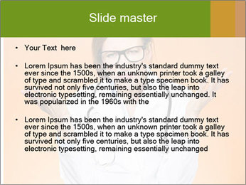 The doctor on an orange background PowerPoint Template - Slide 2
