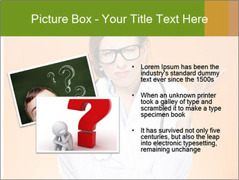 The doctor on an orange background PowerPoint Template - Slide 20