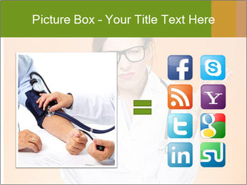 The doctor on an orange background PowerPoint Template - Slide 21
