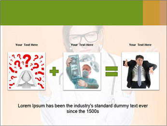 The doctor on an orange background PowerPoint Template - Slide 22