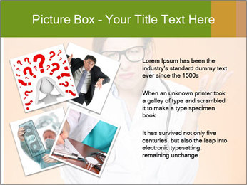 The doctor on an orange background PowerPoint Template - Slide 23