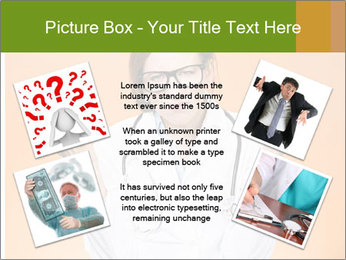 The doctor on an orange background PowerPoint Template - Slide 24