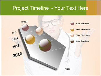 The doctor on an orange background PowerPoint Template - Slide 26