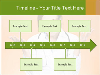 The doctor on an orange background PowerPoint Template - Slide 28