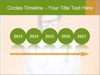 The doctor on an orange background PowerPoint Template - Slide 29
