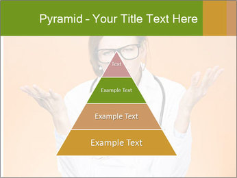 The doctor on an orange background PowerPoint Template - Slide 30