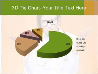 The doctor on an orange background PowerPoint Template - Slide 35