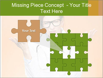 The doctor on an orange background PowerPoint Template - Slide 45