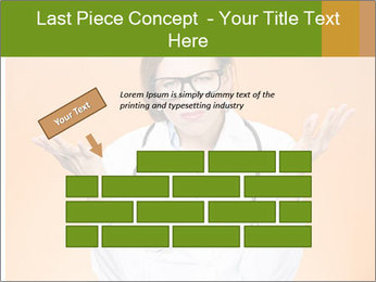 The doctor on an orange background PowerPoint Template - Slide 46